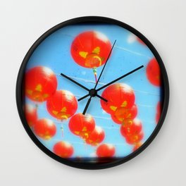 Red Lanterns Wall Clock