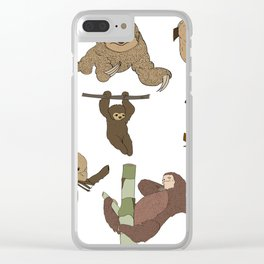 Sloth Party Clear iPhone Case
