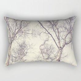 Winter Birch Trees Rectangular Pillow