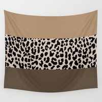 the national Wall Tapestries featuring Leopard National Flag XVIII by M Studio