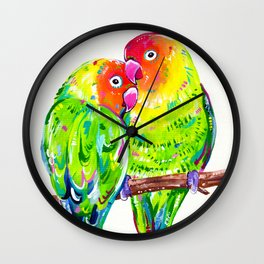 Love Birds Wall Clock
