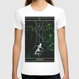 A Tarot of Ink 04 of Wands T-shirt