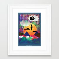collage Framed Art Prints featuring collage by mark ashkenazi