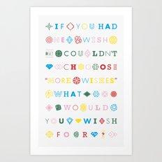 One Wish Art Print