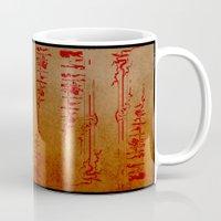 true blood Mugs featuring True Blood Nouveau by Nana Leonti