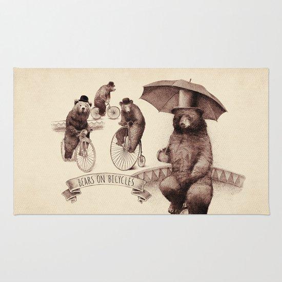 Bears on Bicycles Rug
