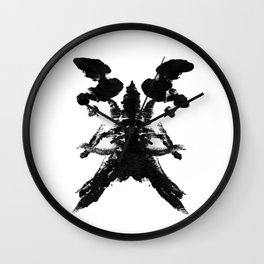 Skull Therapy Print Wall Clock