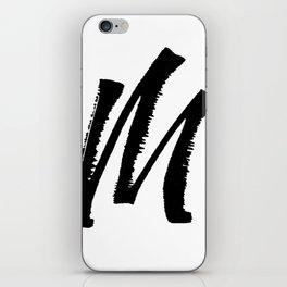 Letter M Ink Monogram iPhone Skin