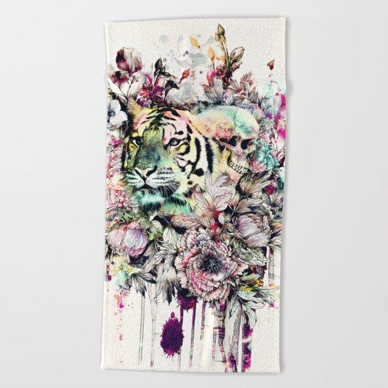 Interpretation of a dream - Tiger Beach Towel