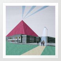 pyramid Art Prints featuring Pyramid by Oleg Borodin