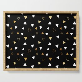 Multi Triangles - Black Serving Tray