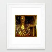 "gustav klimt Framed Art Prints featuring ""Pallas Athena"", Gustav Klimt by Vintage Germany"