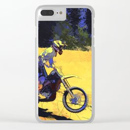 Riding Hard - Moto-x Champion Clear iPhone Case