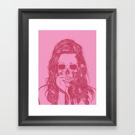 Skull Girl 1 Framed Art Print