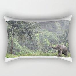 Elephants Love Rain Rectangular Pillow