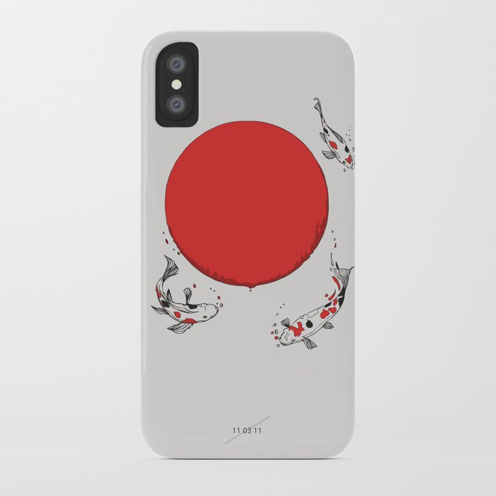Koi and Sun iPhone Case