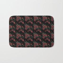 Project 413   Roses on Black Velvet Bath Mat