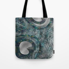Abstract Peacock quill Digital Art Tote Bag