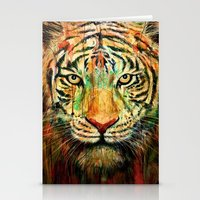 tiger Stationery Cards featuring Tiger by nicebleed