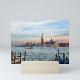 Grand canal in Venice during Evening Mini Art Print