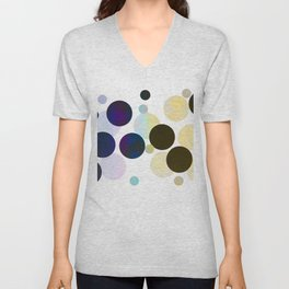 Dots in Chocolate and Vanilla Unisex V-Neck