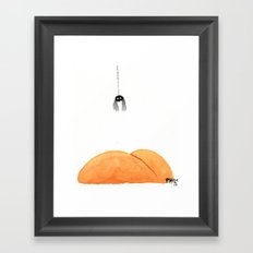 Spider and Butt Framed Art Print