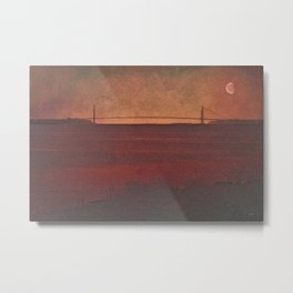 THE VERRAZZANO NARROWS BRIDGE Metal Print