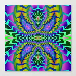Tribal Rainbow Lotus Canvas Print