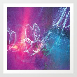 Colorful Sketchy Squiggle Art Print