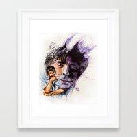 stephen king Framed Art Prints featuring Stephen King by kenmeyerjr
