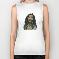 rasta Biker Tanks featuring Rasta  Man by gretzky