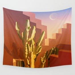 Mid-Century Arizona Amber Rose House Wall Tapestry