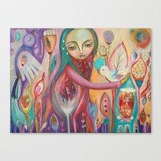 Life is sacred - inspirational art Canvas Print