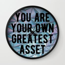 Motivational - You Are Your Own Greatest Asset Wall Clock