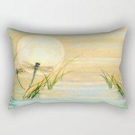Dragonfly Moon  Rectangular Pillow