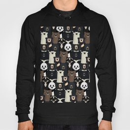 Bears of the world pattern Hoody