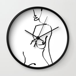 abstract nude Wall Clock