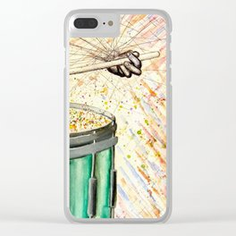 Snare Drum Watercolor Clear iPhone Case