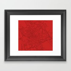 Ancient Rome in Red Framed Art Print