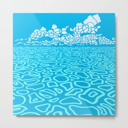 Tropical Ocean by Black Dwarf Designs Metal Print