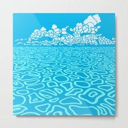 Tropical Ocean by Black Dwarf Designs Metal Print