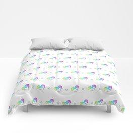 Drippy Heart Pattern Comforters