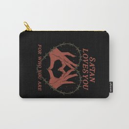 Satan Loves You Carry-All Pouch