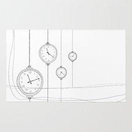ticking clocks Rug