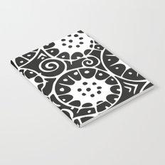 Black and White Swirl Pattern Notebook