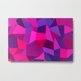 Geometric shapes,plane,triangles,polygons,hexagons,abstract,pink Metal Print
