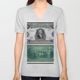 1918 James Madison $5,000 Federal Reserve Bank Note Unisex V-Neck