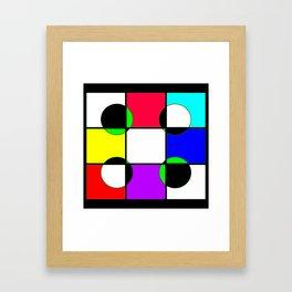 Block color Framed Art Print