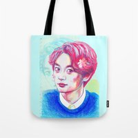 shinee Tote Bags featuring SHINee Minho by sophillustration