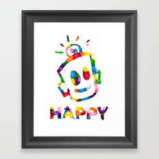 HAPPY GUMBALLS Framed Art Print
